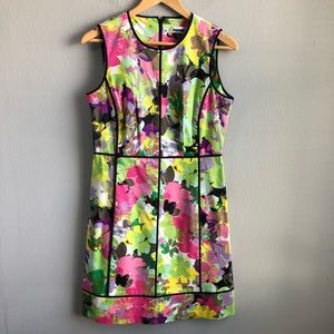 Calvin Klein floral princess seam business dress.